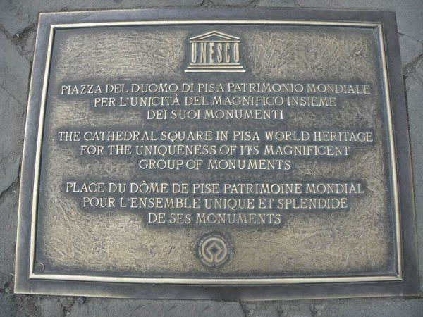Plaque de l'Unesco