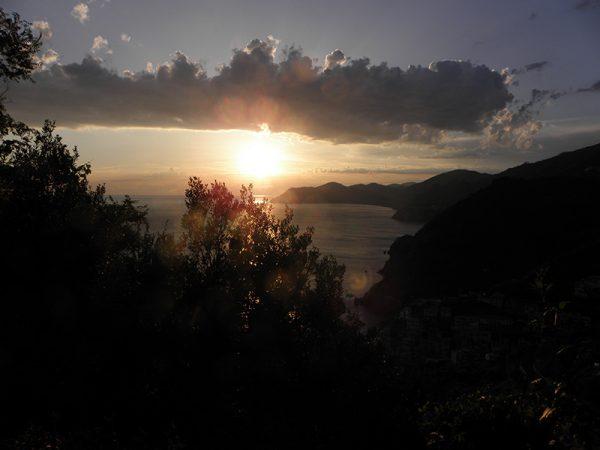 Coucher de soleil sur Riomaggiore